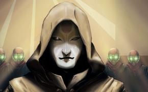 Picture Shine, mask, art, hood, The Legend of Korra, Chi Blockers, Amon