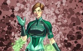 Picture girl, green, costume, art, anne claire