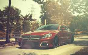 Picture Mercedes-Benz, red, front, Mercedes Benz, CLS-class, CLS 63