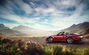 Wallpaper landscape, nature, convertible, Porsche, porsche 911 carrera
