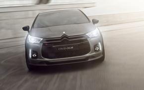 Picture Concept, Auto, Logo, The hood, Citroen, Lights, Racing, DS 4R, DS4