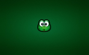 Picture look, green, frog, surprise, minimalism, green