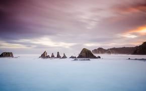 Picture landscape, Asturias, seaescape