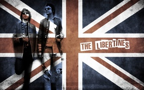 Picture music, rock, band, flag, english rock band, the libertines