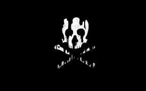 Wallpaper skull, bones, style