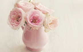 Picture flowers, roses, vase