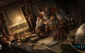 Picture card, candles, game, Strife, globe, laboratory, MOBA, the alchemist