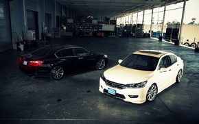Picture white, wheels, Honda, Accord, black, Honda, Galpin, wossen