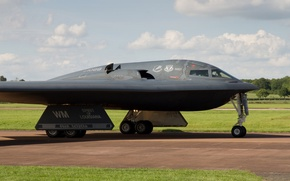 Wallpaper strategic, B-2A Spirit, Northrop, bomber, the airfield