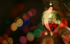 Picture glass, mood, holiday, toy, lights, tree, year, new