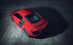 Picture Audi, red, rear, V10