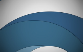 Picture white, circles, abstraction, blue, design, color, material