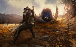Picture the Witcher, Griffin, rpg, Geralt, the wild hunt, wild hunt, the witcher 3, cd Projekt …