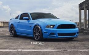 Picture Mustang, Ford, Blue, Matte, Wheels, Grabber, VMB8, Velgen, Gunmetal