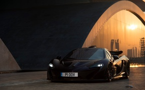 Picture reflection, black, lights, the front, mclaren, McLaren, tinted