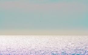 Picture sea, sky, ocean, sunlight, Atlantic, horizon, seascape