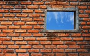 Picture wall, bricks, window