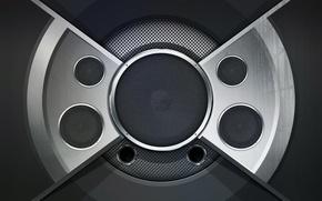 Picture design, reflection, speaker, audiogasm