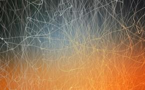 Wallpaper glow, thread, light, orange