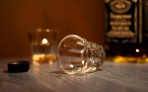 Wallpaper macro, glass, bottle