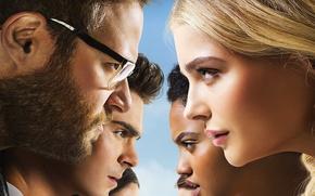 Picture cinema, wallpaper, girl, green eyes, woman, beautiful, man, movie, face, Chloë Moretz, blonde, Zac Efron, …