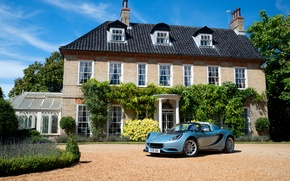 Picture car, the sky, house, Wallpaper, Lotus, house, car, sky, wallpapers, Special Edition, Elise, Cup 250
