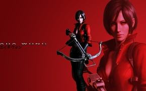Picture red background, Resident evil, Resident Evil 6, Ada Wong, Ada Wong