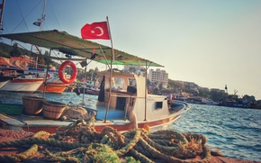 Picture summer, coast, holiday, turkey, boat, Sea