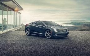 Picture girl, background, Cadillac, coupe, the front, Cadillac, ELR, ELR