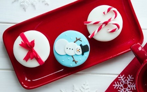 Picture food, New Year, plate, Christmas, Cup, sweets, Christmas, red, cream, dessert, cakes, holidays, New Year, …