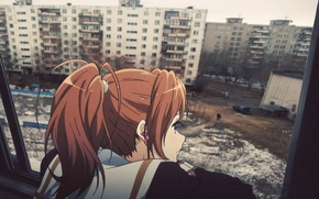 Picture anime, yard, Russia, Chan