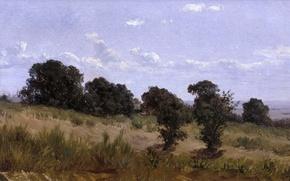 Picture grass, trees, landscape, nature, Carlos de Haes, The landscape in define