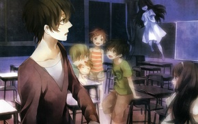 Picture memories, night, fear, fright, spirit, Ghost, class, nightmare, clairvoyant, underworld, by Yuzuki Karu
