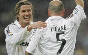 Picture Sport, Football, David Beckham, David Beckham, Football, Real Madrid, Real Madrid, Sport, Zinedine Zidane, Zizou, …