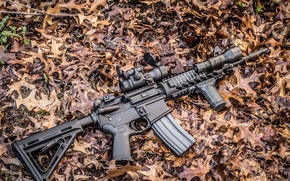 Picture weapons, background, assault rifle, AR-15, assault rifle
