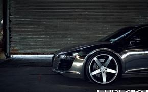 Picture Audi, optics, bumper, Chrome, CW-5, Concavo Wheels, Matte Black Machined Face