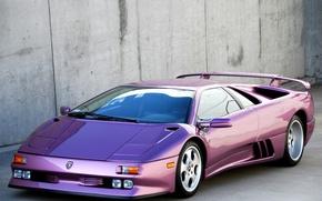 Picture purple, tuning, spoiler, lamborghini, drives, Lamborghini, Diablo, diablo se30