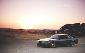 Picture sunset, nissan, Nissan, silvia s13