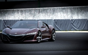 Picture race, track, ACURA nsx