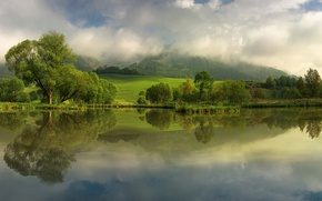 Picture river, spring, Austria, May, Rattenberg