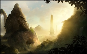 Picture Cave, Valley, Obelisk, TamplierPainter, The Lost valley