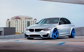 Picture BMW, Blue, Front, Color, Silver, Wheels, HRE, F80, RS102M