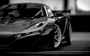 Picture McLaren, MP4-12C, front, McLaren, black and white