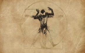 Wallpaper venom, Leonardo da Vinci, spider-man