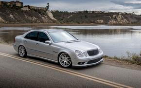 Picture silver, silver, mercedes, Mercedes, amg, e-class, e55