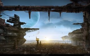 Picture fantastic, planets, cosmocity