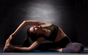 Picture pose, yoga, stretching, sportswear