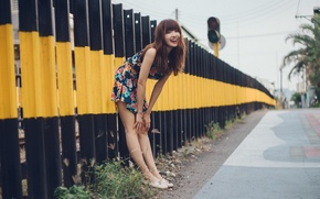 Picture girl, smile, street
