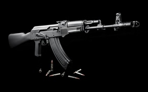 Wallpaper weapons, black, cartridges, the civil version of the AK-103, EXP 01, Saiga, ceny background
