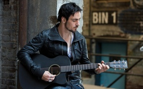 Picture guitar, Three Days Grace, Adam Gontier